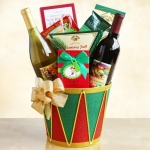 Drummer Boy Christmas Wine Gift