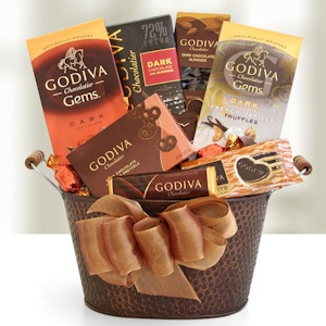 Godiva Decadent Dark Chocolate Basket imagerjs