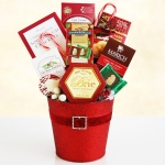 Gourmet Treat Santa Holiday Tin