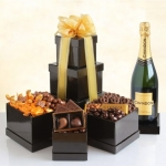 Sparkling Napa Chandon and Chocolates Tower