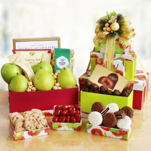Fruitful Sweetness Gourmet Gift Tower imagerjs