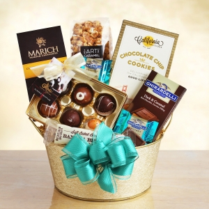 Chocolate Gold Dreams Gift Basket imagerjs
