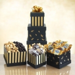 Black & Gold Elegance Chocolate Tower