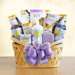Luxurious Lavender Retreat Spa Basket