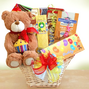 Birthday Party Bear Basket imagerjs