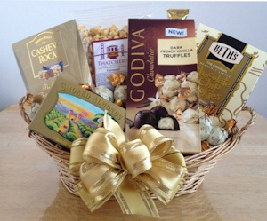 Golden Treasures Holiday Chocolate Basket imagerjs