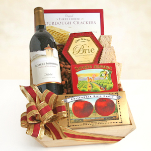 Rejoice with Red Wine Gift Basket imagerjs
