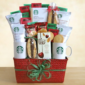 Starbucks Holiday Greetings Coffee Gift Basket imagerjs