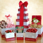 Wonderland Christmas Gift Box Tower