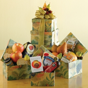 Flavorful Fruit & Snack Gift Tower imagerjs