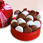 Valentine Chocolate Covered Oreo Cookie Tin