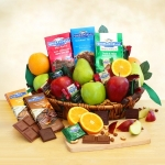 Fruit & Ghirardelli Chocolate Gift Basket