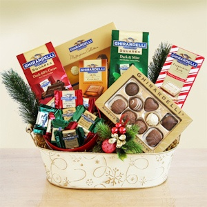 Ghirardelli Chocolate Christmas Gift Basket imagerjs