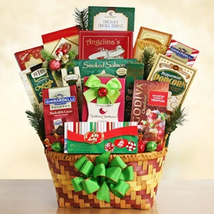Sweet Holiday Greetings Basket imagerjs