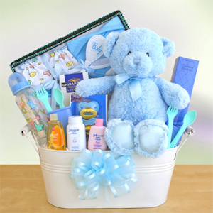 Welcome to the World Baby Gift Basket (Pink or Blue) imagerjs