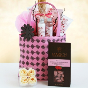 Cherry Blossom Spa Gift Tote imagerjs