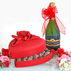 Truffles and Champagne Valentine Gift imagerjs