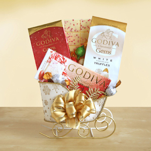 Golden Godiva Holiday Sleigh imagerjs