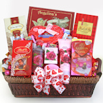 Be Mine Spa Basket with Chocolates