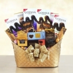 Oh My Godiva Chocolate Gift Basket