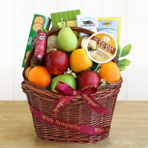 Caring Kindness Sympathy Fruit Basket imagerjs