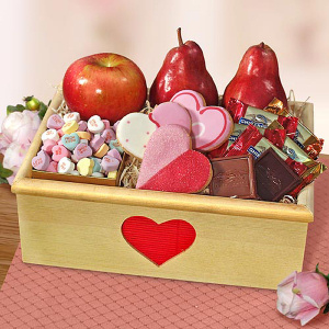 'Yours Truly' Valentine Fruit Crate imagerjs