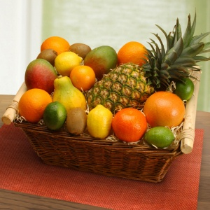 Tropical Organic Fruit Basket imagerjs