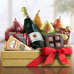 Sparking Cider Christmas Fruit & Treats Crate imagerjs