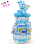 Giggly Giraffe Three Tier Diaper Cake