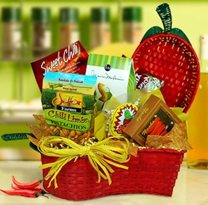 Some Like it Hot Spicy Snack Basket data-pin-no-hover=