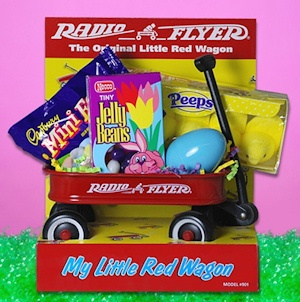 Little Red Wagon Easter Gift data-pin-no-hover=
