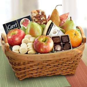 Deluxe Fruit and Cheese Gift Basket imagerjs