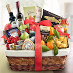 Deluxe Farmstead Christmas Fruit Gift Basket