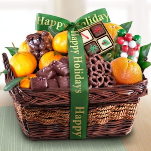 Citrus and Chocolate Christmas Favorites Basket imagerjs