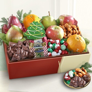 Deluxe Holiday Goodies and Fruit Gift imagerjs