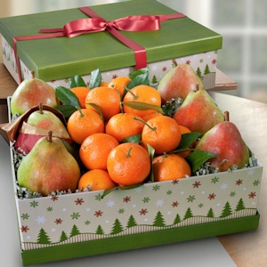 Mandarin and Pear Holiday Gift Box imagerjs