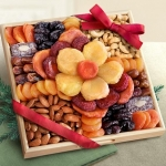 Dried Fruit and Nut Flower Gift Tray