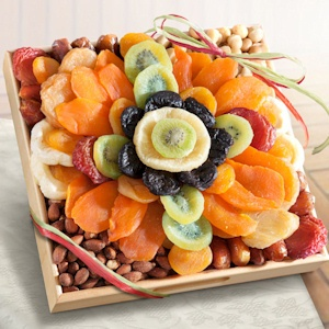 Tropical Flora Dried Fruit and Nut Tray imagerjs