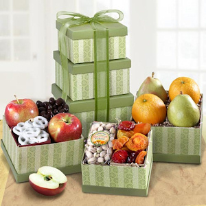 Fresh Fruit Holiday Gift Tower imagerjs