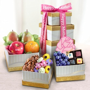 Mother's Day Fruit and Sweets Tower imagerjs