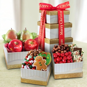 Merry Christmas Fruit Gift Tower imagerjs