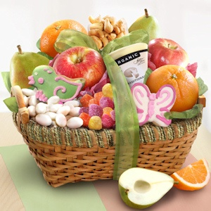 Organic Spring Savory and Sweet Fruit Basket imagerjs