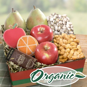 Organic Fruit and Gourmet Snack Gift Box imagerjs