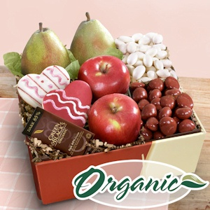 Organic Valentine Bliss Fruit and Snack Gift Box imagerjs