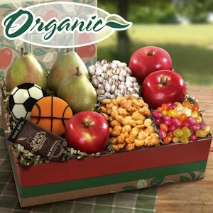 Father's Day Fruit and Snack Organic Gift Box imagerjs