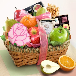Springtime Fruit and Savories Gift Basket imagerjs