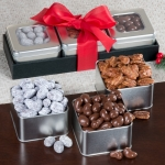 Sweet & Chocolate Covered Nuts Tin Trio Set