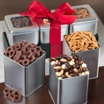 Sweet & Crunchy Grand Snacking Tin Trio Set