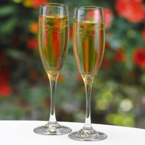 Gold Print Anniversary Toasting Flutes imagerjs