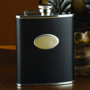 Personalized Black Flask (6oz or 8oz) imagerjs